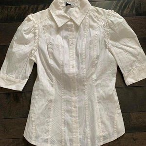 BeBe Fitted Puff Sleeve Blouse